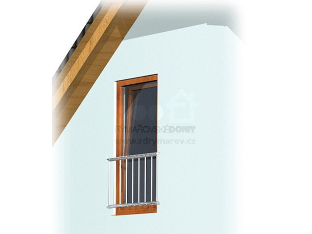 French window (terrace door with railing)