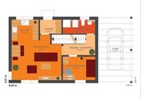 Rodinný dům KUBIS 631 - půdorys přízemí
